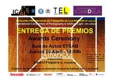 ACTE D`ENTREGA PREMIS CONCURS INTERNACIONAL de fotografia de LLUM ARTIFICIAL