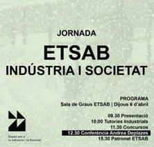 JORNADA ETSAB INDÚSTRIA I SOCIETAT