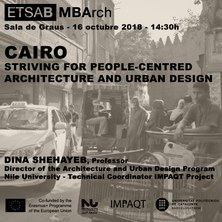 MBArch CAIRO  STRIVING FOR PEOPLE-CENTRED ARCHITECTURE AND URBAN DESIGN DINA SHEHAYEB