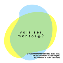 PROGRAMA DE MENTORIES 2019-20