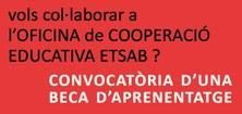 beca aprenentage OFICINA COOPERACIÓ EDUCATIVA ETSAB